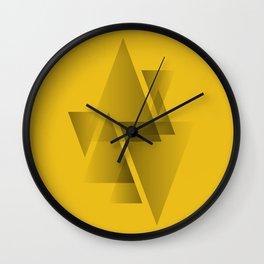 Pattern 3 (yellow) Wall Clock