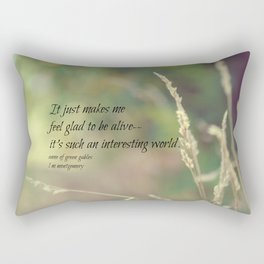 Interesting World Anne Green Gables Rectangular Pillow