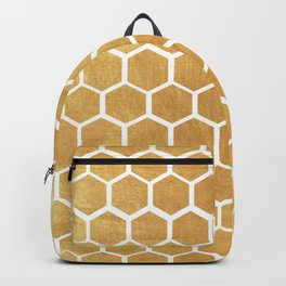 Gold honey bee Backpack