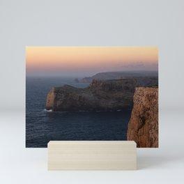 End of the world sunset Sagres Portugal Mini Art Print