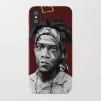 basquiat iPhone & iPod Cases featuring Geometric Basquiat by WillisInDesign