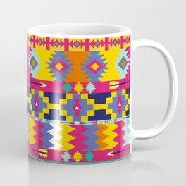 Seamless colorful aztec pattern with birds Coffee Mug