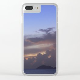 Island Sunset Clouds Clear iPhone Case