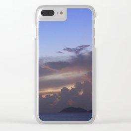 Island Sunset Clouds Clear iPhone Case