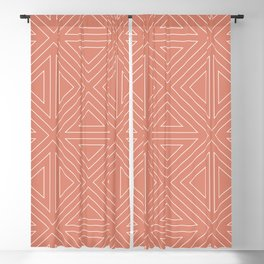 Angled Rose Blackout Curtain