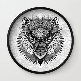 lion aztec art pattern iPhone 4 4s 5 5c 6 7, pillow case, mugs and tshirt Wall Clock