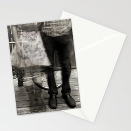 Love Romance Romantic Couple Ghost Bicycle Stationery Cards