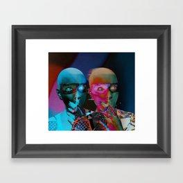 Royal jester girl Framed Art Print