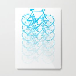 Blue bicycle Metal Print