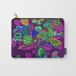 Psychedelic Paisley Tree on Plum Carry-All Pouch