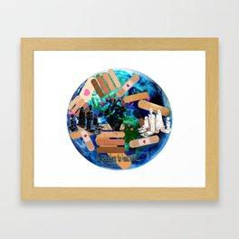 Love to Heal the Earth Framed Art Print