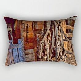 Draft Horse Harness Rectangular Pillow