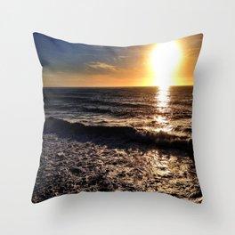 """Hermosa Beach """"On the Pier"""" Throw Pillow"""