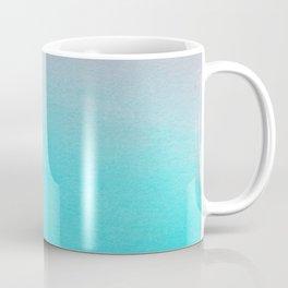 Ombre watercolor turquoise Coffee Mug