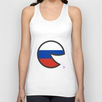 russia Tank Tops featuring Russia Smile by onejyoo