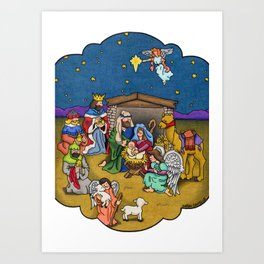 A Nativity Scene Art Print