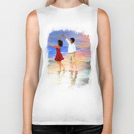 Dancing at the Beach Biker Tank