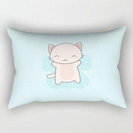 Kawaii Cute Snow Angel Cat Rectangular Pillow