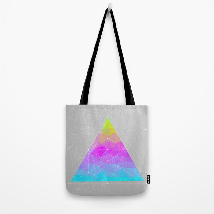 The Dots Will Somehow Connect (Geometric Pyramid) Tote Bag