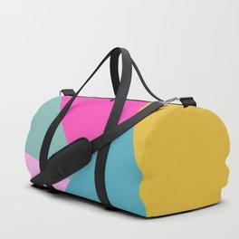 Geometric Color Block #11 Brights Duffle Bag