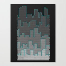 The Turquoise Outline Canvas Print