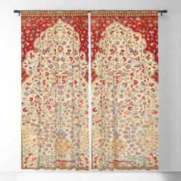 Kashan Central Persian Rug Print Blackout Curtain