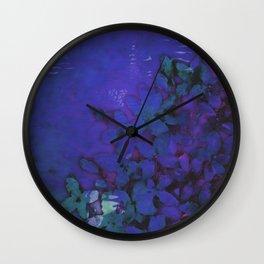 Lilac Hues Blues Wall Clock