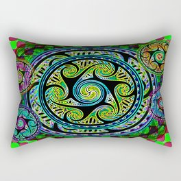 Variated Spheres #1 Psychedelic Celtic Design Rectangular Pillow