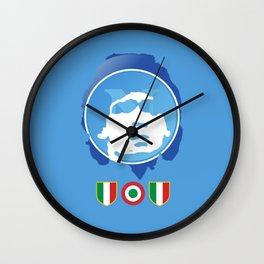 SSC Napoli Maradona Wall Clock