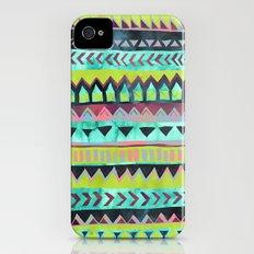 PATTERN {Tribal Stripe - Green} Slim Case iPhone (4, 4s)
