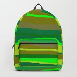 Green Multi Brush Strokes Backpack
