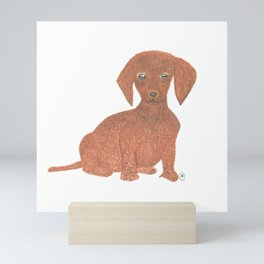 Daffodil the Dachshund Puppy Mini Art Print