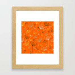 Mid-Century Modern Art Umbrella Flowers 1.4 Framed Art Print