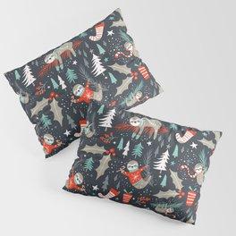 Slothy Holidays Pillow Sham