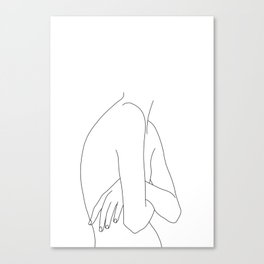 Figure line drawing illustration - Jem Canvas Print