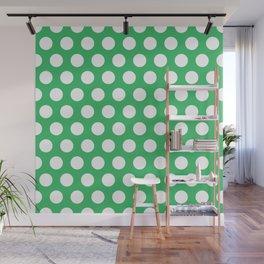 Green and White Polka Dots 772 Wall Mural