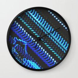 Glitch Prints Wall Clock