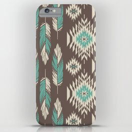 Native Roots - Turquoise & Brown iPhone Case