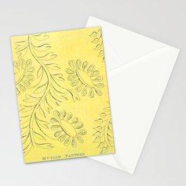 Yellow Regency Floral Muslin Pattern Digital Art Painting Stationery Cards