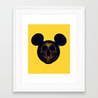 mickey Framed Art Prints featuring Mickey by nicebleed