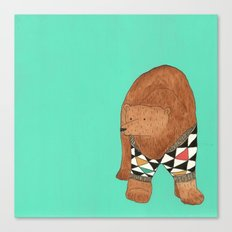A bear in a sweater Canvas Print