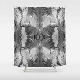 B&W Open Your Eyes Shower Curtain