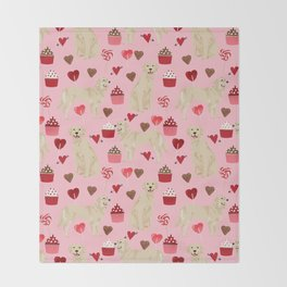 Golden Retriever cute valentines day must have dog gifts pet portraits custom dog lover valentines Throw Blanket