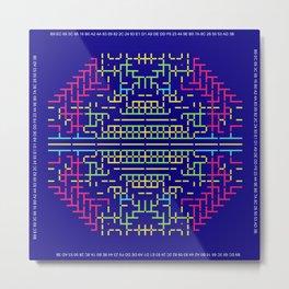 """Microchip"" 6 Metal Print"