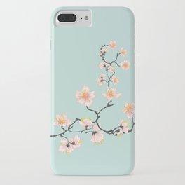 Sakura Cherry Blossoms x Mint Green iPhone Case