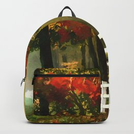 Fall scene with fence Backpack