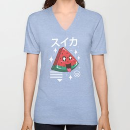 Kawaii Watermelon Unisex V-Neck
