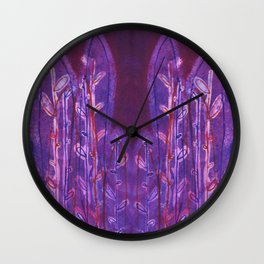 Ferocious Ferns Wall Clock