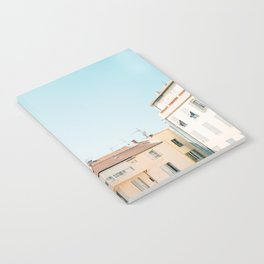 Pretty pretty Cannes | Pastel colored apartment buildings in the South of France Notebook