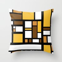 70s Throw Pillows featuring 70s Deco by Lily Mitchell